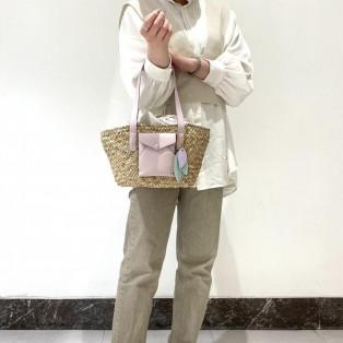 【ST Garden】レターポケット バケットトートバッグ 小サイズ
