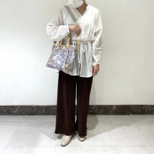 【ST Garden】オリジナルフラワー チュールトートバッグ 小サイズ