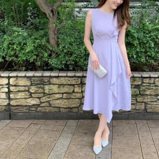ラッフルワンピースドレス
