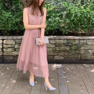 クロシェ風レースドレス