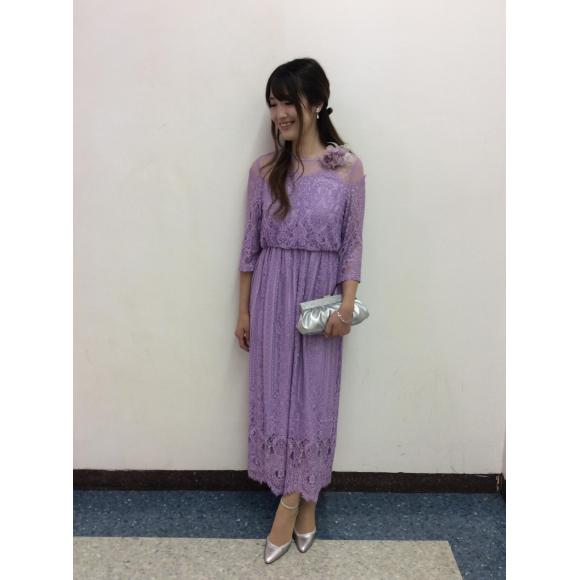 オシャレさん必見☆総レース袖つきドレス