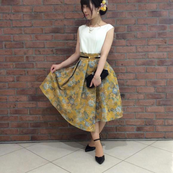 ジャガードスカートドレス☆