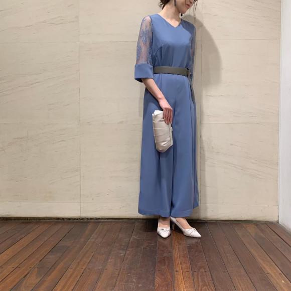 袖付きパンツドレス