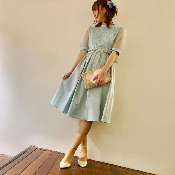 袖付き 新作ドレス