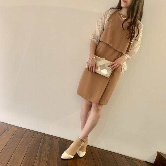 アシンメトリータイトドレス