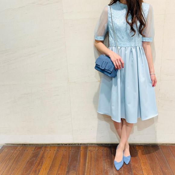 お袖付きふんわりドレス