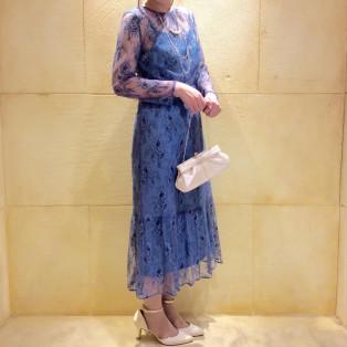 オシャレ♡総レースお花柄ドレス♡