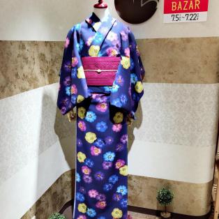 新作浴衣 〜押し花〜