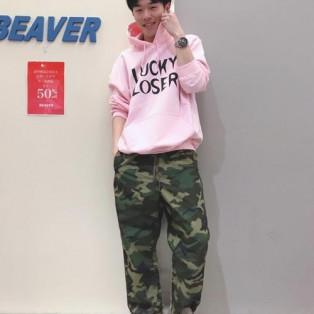 ピンク×迷彩