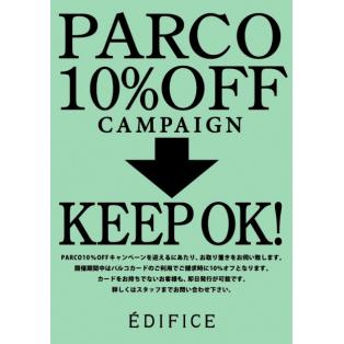 PARCO10%OFF KEEP START