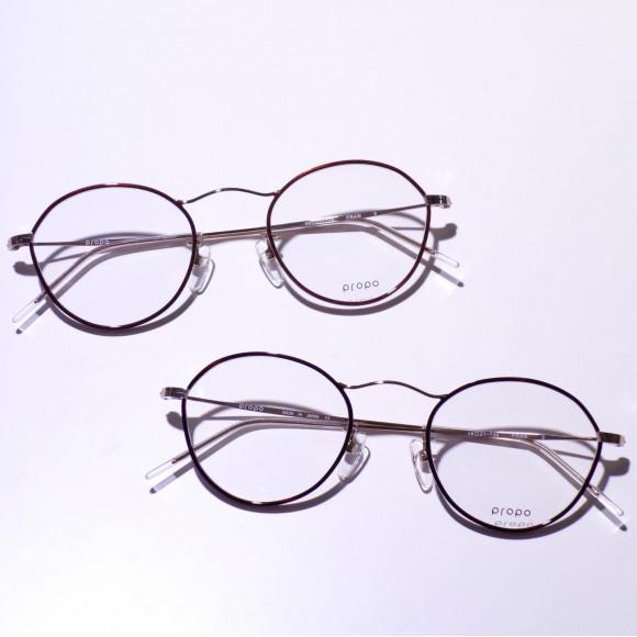 いつもの丸眼鏡に一工夫を。propo「FRAN」