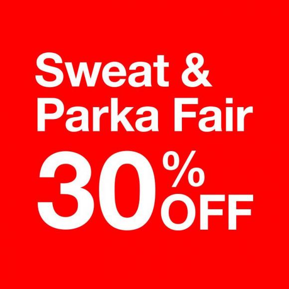 12/13(木)よりSweat & Parka Fair 開催!!