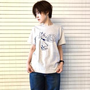 吹き出し柄スナフキン半袖Tシャツ