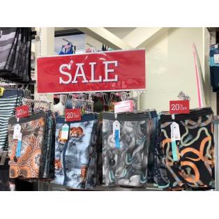 夏物SALE開催中!!ムラスポ池袋店 Tシャツ、ショーツに水着等も早くもセール開始しました。