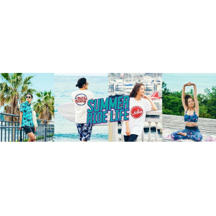 SUMMER RIDELIFE メンズレディースコーディネートのご紹介!!サーファー、スケーター、レディースフィットネススタイル提案 ムラスポ池袋