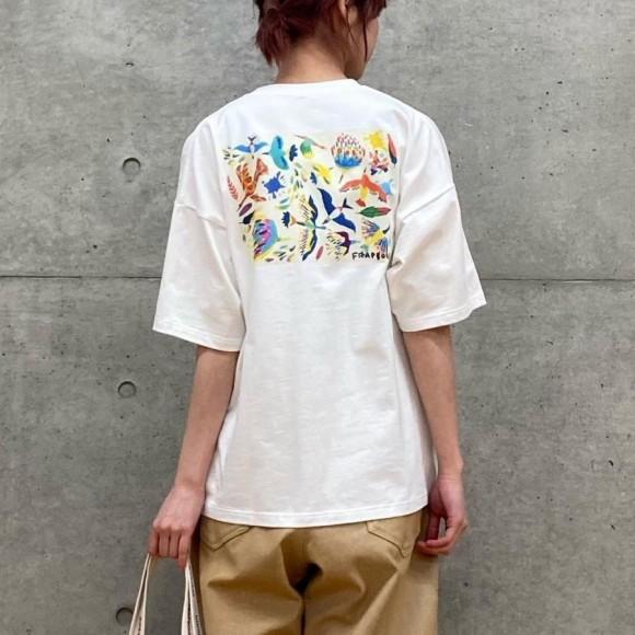 FRAPBOIS ×田室綾乃×クレパス (Tシャツ)