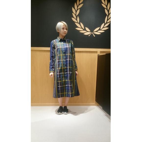 ■PANELLED WOVEN SHIRT DRESS■