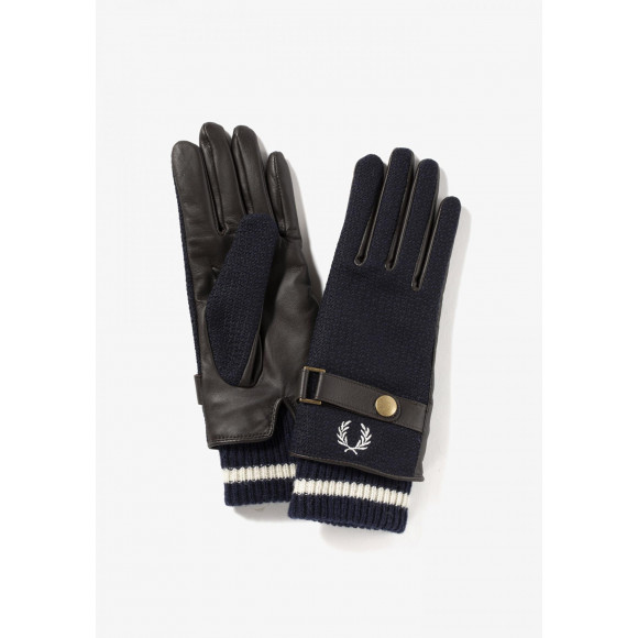 WOVEN/LEATHER MIX GLOVES