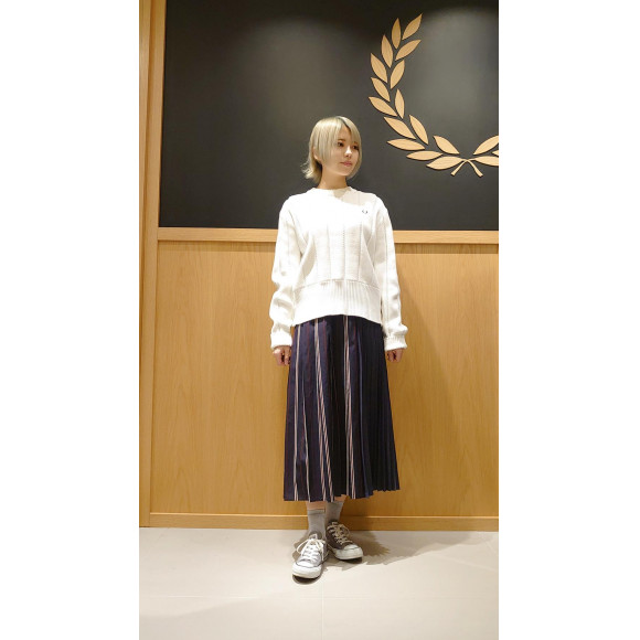■PLEATED STRIPED SKIRT■