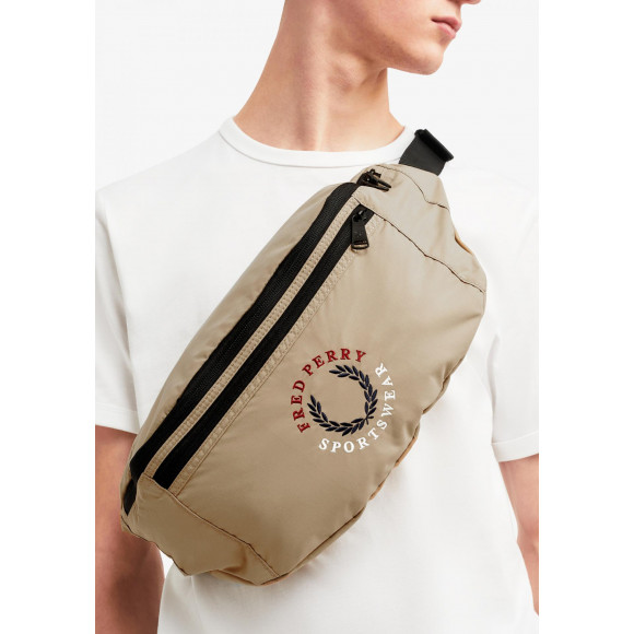 BRANDED RIPSTOP CROSS BODY BAG