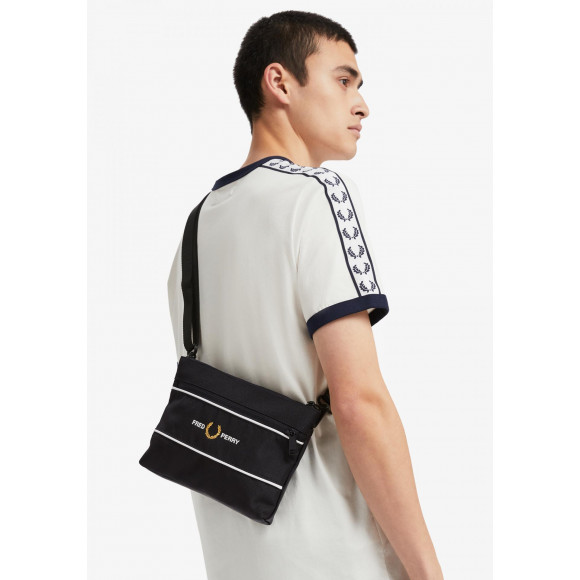 GRAPHIC PANEL FLAT CROSS BODY BAG