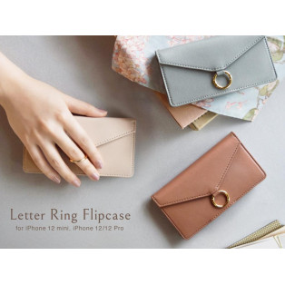 レターデザインのiPhoneケース☆Letter Ring Flipcase