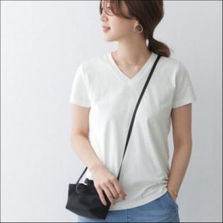 スペインコットンVネックTシャツ
