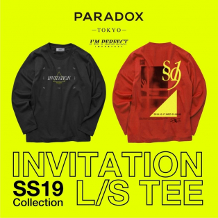 "【PARADOX】2019SS ""INVITATON L/S TEE"""