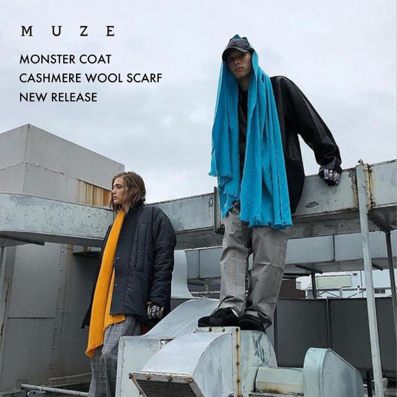 【MUZE】CASHMERE WOOL SCARF
