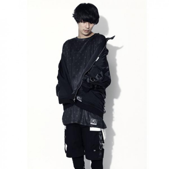 【SILLENT FROM ME】SAVIOR -Ringed Blouson-(BLK/BLK)