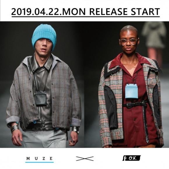 【2019.04.22.MON RELEASE START】MUZE × O.K. - LEATHER NECK WALLET