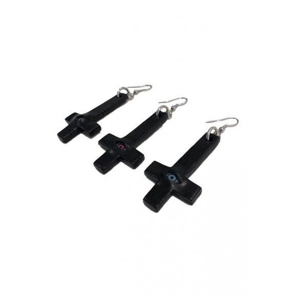 【CMYKRewks】Big Cross Earrings