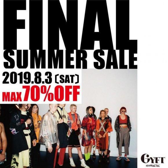 【FINAL SALE】 2019.08.03.SAT -