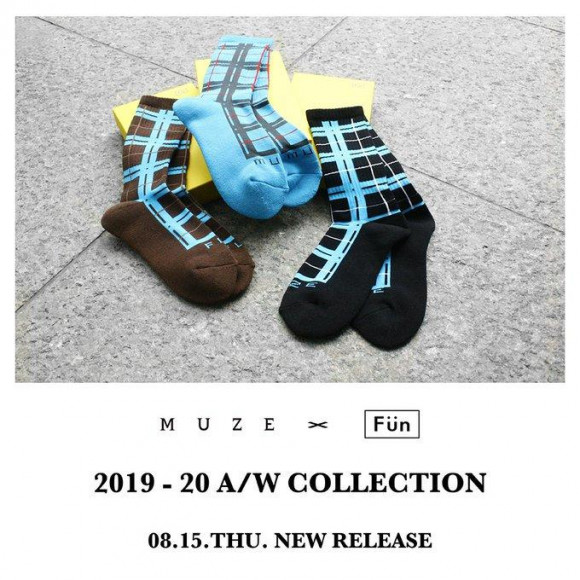 【NEW ARRIVAL】MUZE × FUN - CHECK SOX