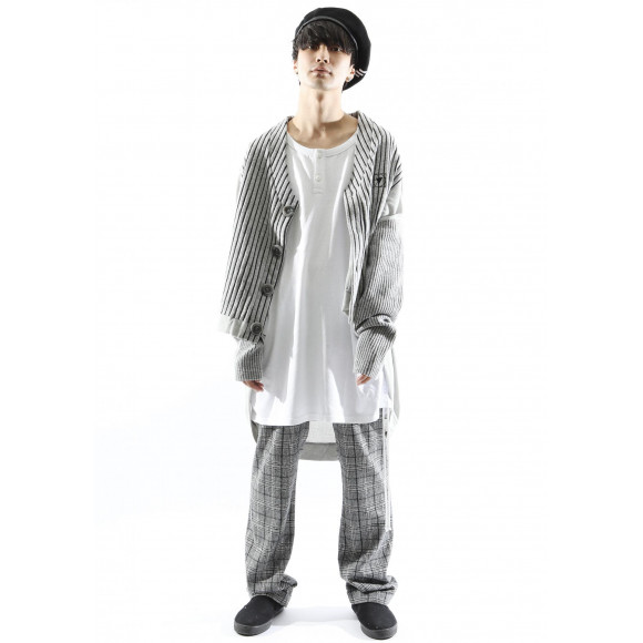 【NEW ARRIVAL】SILLENT FROM ME - COCOON -Switched Knit Cardigan-