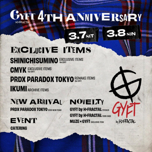 GYFT by H>FRACTAL P´PARCO 2F 4rd ANNIVERSARY