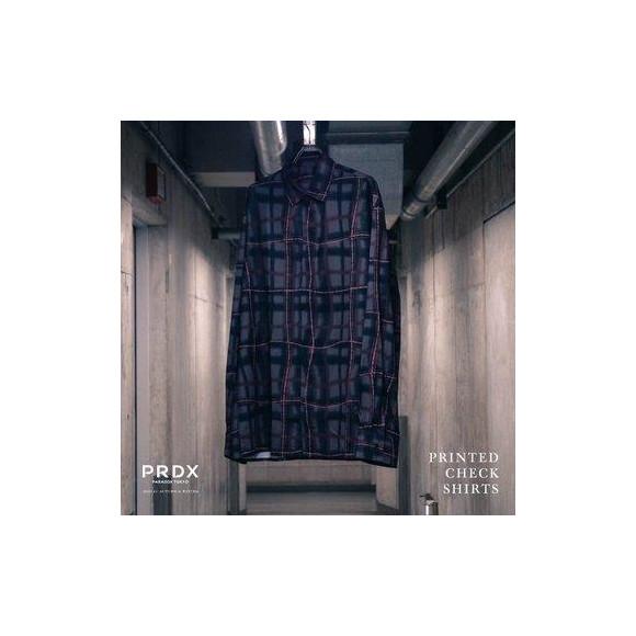 【NEW ARRIVAL】 PRDX PARADOX TOKYO - PRINTED CHECK SHIRTS