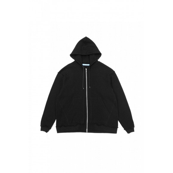 【2020.11.28 SAT IN STORE】  MUZE 2020 A/W COLLECTION  MUZE TURQUOISE LABEL - BIG HOOD WAFFLE W ZIP PARKA -