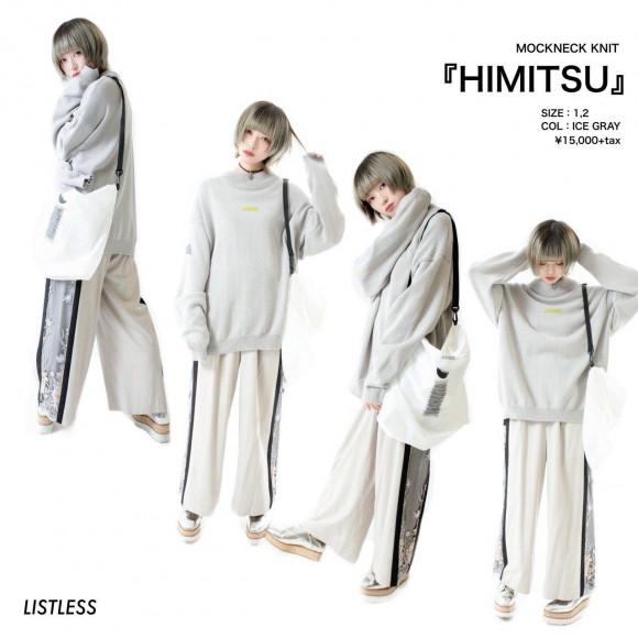 【LISTLESS NEW ITEM】MOCK NECK KNIT 「HIMITSU」