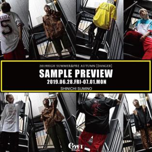 【SAMPLE PREVIEW】 〈2019.06.28.FRI-07.01.MON〉 SHINICHISUMINO 19HIGH SUMMER & PRE AUTUMN COLLECTION 『DANGER』