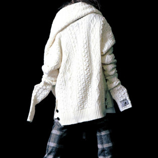 【NEW ARRIVAL】 SILLENT FROM ME - VEIN -Cable Knit Sweater & Snood-