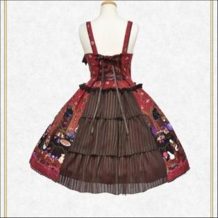 ミセス・ハロウィンアップルの奇妙な晩餐会柄ジャンパースカートⅠ