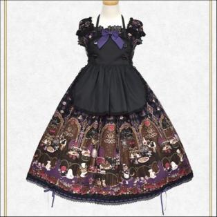 ミセス・ハロウィンアップルの奇妙な晩餐会柄ジャンパースカートⅡ