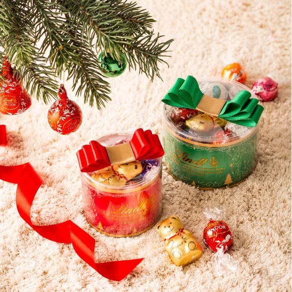 クリスマスカラーのリンドールギフト