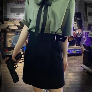 「MILK」の刺繍入り巻きスカート風キュロット【 wrap キュロット 】
