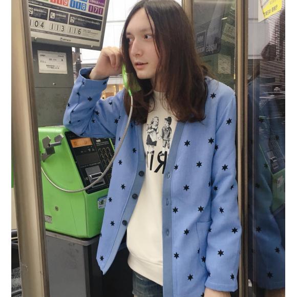 六芒星が目を引く新作のカーディガン【MAGNI STAR CD】