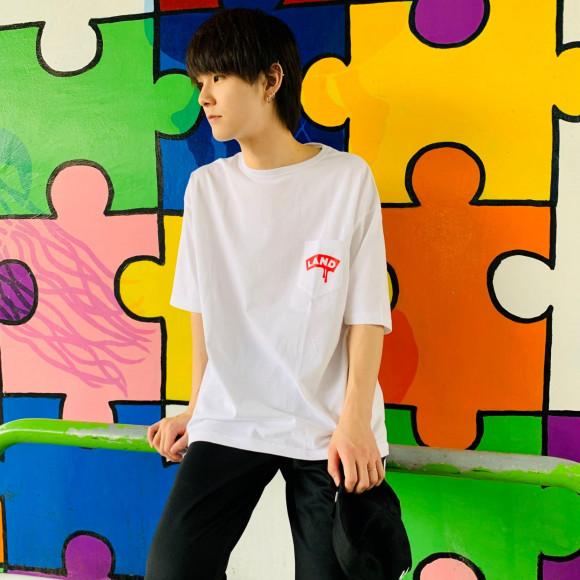 シンプルな限定Tシャツ【LANDロゴ ポケットTEE】