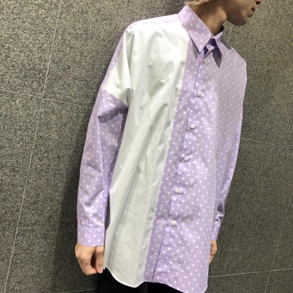 サイズの異なるドット柄が目を引くシャツが登場♬【MIXED DOT SHIRTS】
