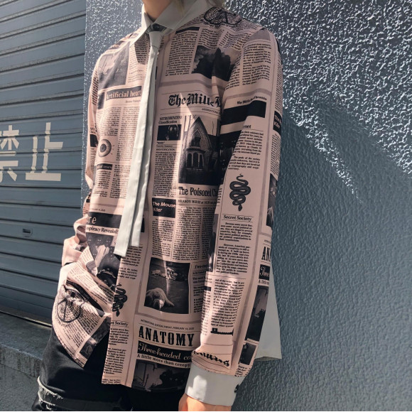 ニュースペーパー柄のクールなシャツをご紹介☆【MILKBOY GOSSIP SHIRTS】