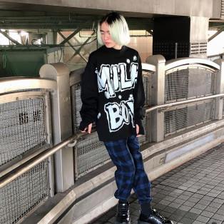 MILKBOYからパンクテイストのトップスが登場☆【BULLET SWEAT】